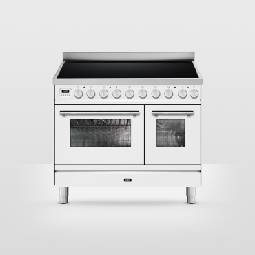 ILVE Professional Plus Hi-Tech 100 inductie Wit - 2 ovens