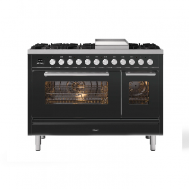 ILVE Professional Plus 120 RVS  met Fry -Top- 2 ovens (ILVE fornuizen)