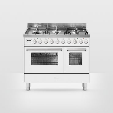 ILVE Pro Line 100 Rood - 2 ovens (ILVE fornuizen)